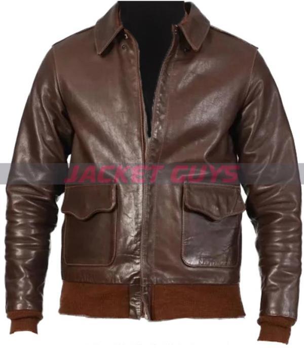 mens dark brown leather jacket buy now