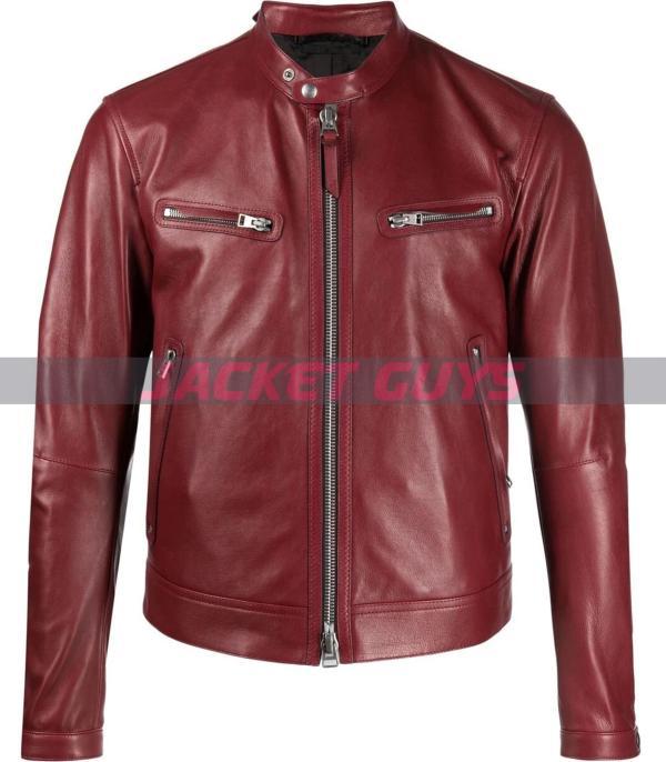 buy now mens burgundy leather jacket