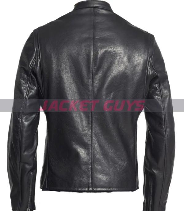 mens dark leather jacket buy now
