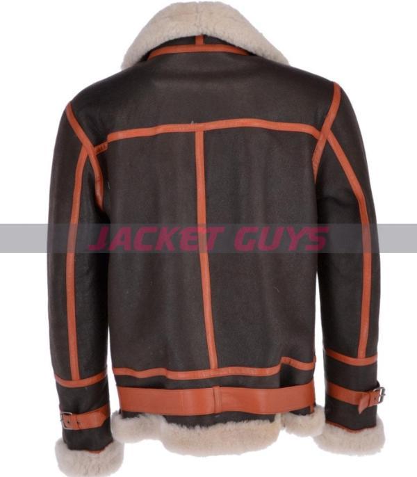 mens black aviator leather jacket buy now