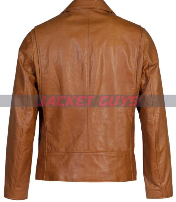 mens tan brown leather jacket on sale get now