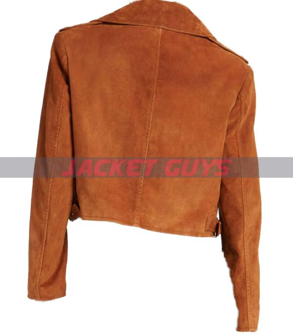 on discount ladies suede leather jacket