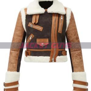 buy now ladies aviator leather jacket