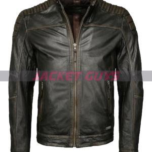 buy now men distress leather jacket