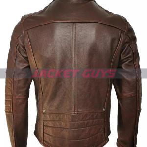 men brown leather jacket shop now