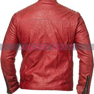 men red cafe racer leather jacket buy now