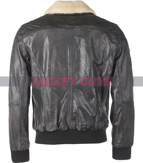 on discount mens sherpa leather jacket