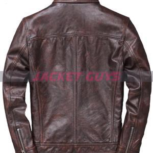 buy now men heavy duty trucker leather jacket