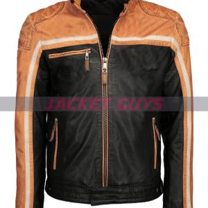 purchase now men cafe racer leather jacket