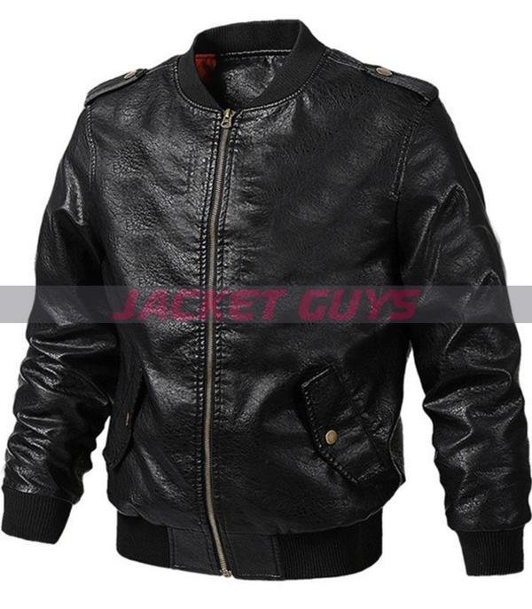 men black sleek leather jacket on sale