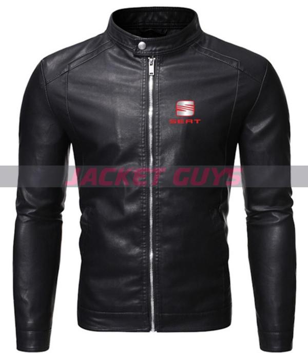 men black racer leather jacket buy now