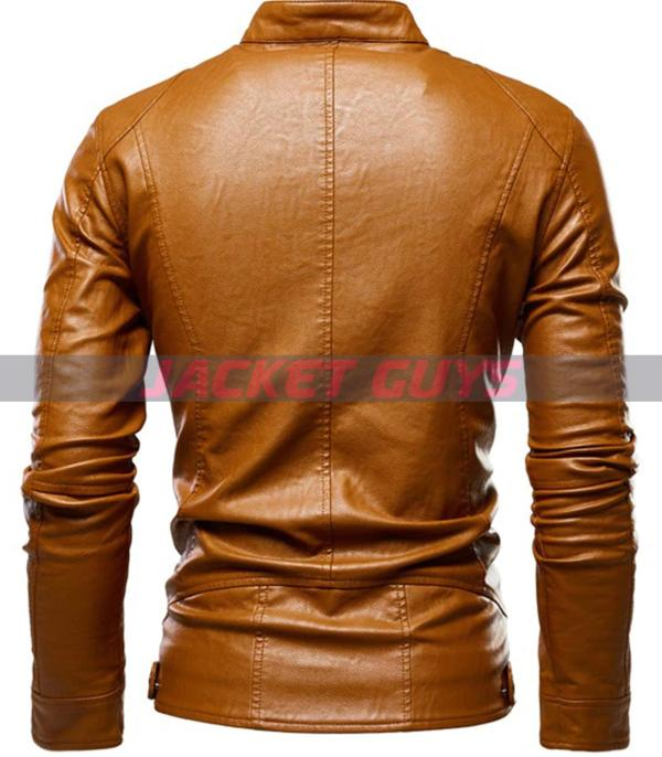 for sale men tan brown leather jacket