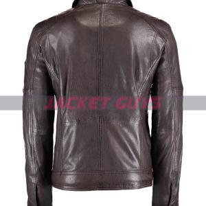 mens dark brown leather jacket on sale