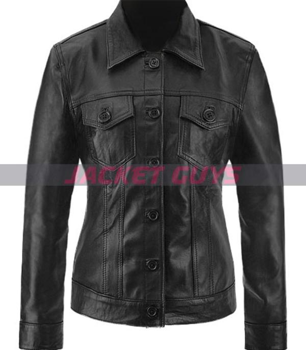 buy now brittney spears black leather jacket