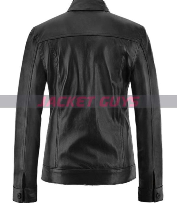 brittney spears black leather jacket on sale