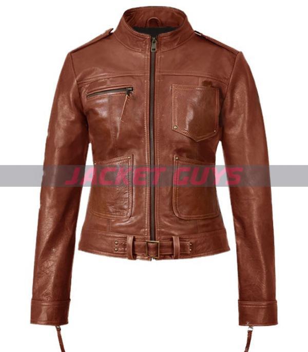 jennifer morrison brown leather jacket for sale