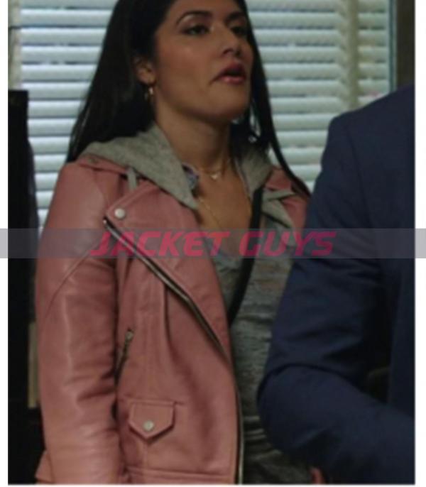 maria baez blue blood leather jacket on sale
