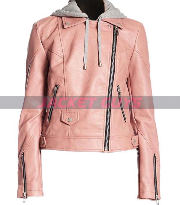 buy now maria baez blue blood leather jacket