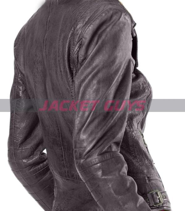womens purple distress leather jacket on sale