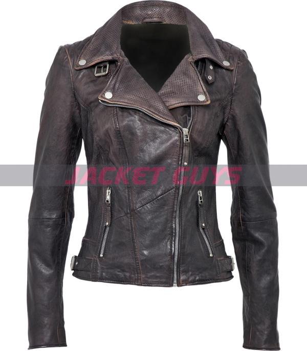 buy now womens purple distress leather jacket