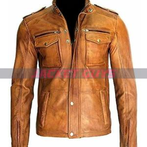mens trucker leather jacket on sale