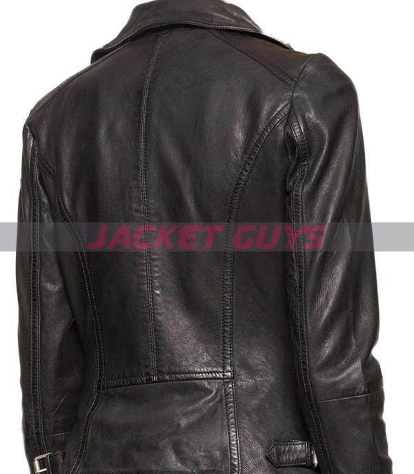 women black leather jacket on sale