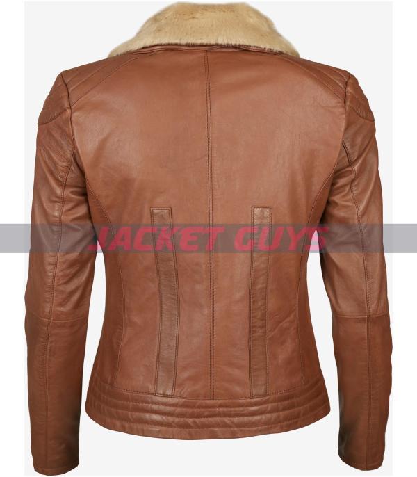 tan brown aviator womens jacket buy now
