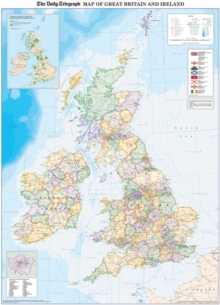Daily Telegraph Map of Great Britain & Ireland Inlcuding ...