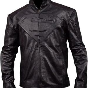 Superman Black Motorcycle Leather Jacket
