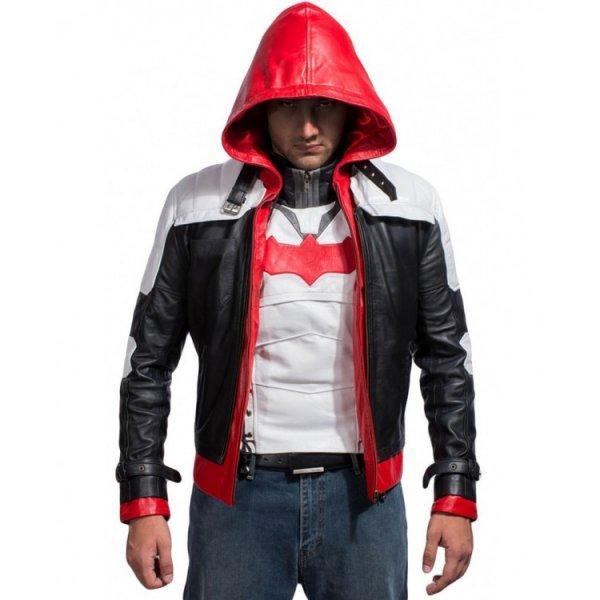 Stylish Mens Black Yellow Batman Leather Jacket
