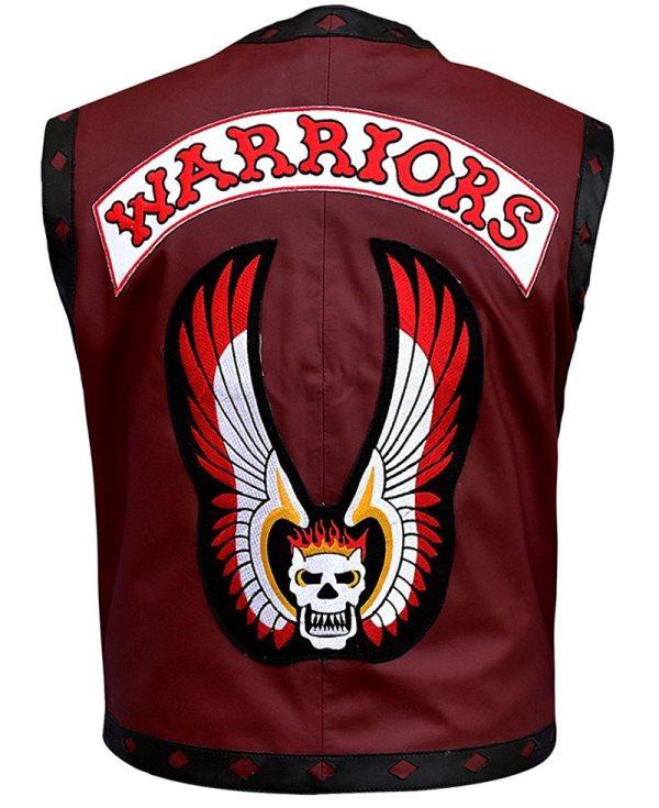 Warriors Maroon Vest Leather