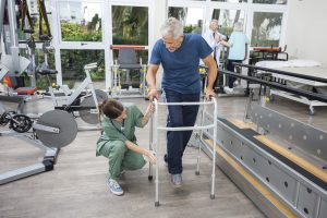 """Parkinson's patient in physical therapy"""