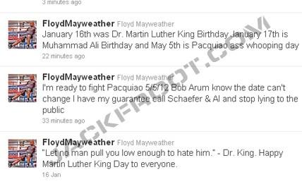 Mayweather on Twitter
