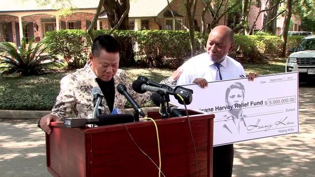 Hoang kieu billionaire donates to hurricane harvey