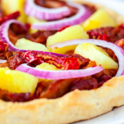 Hawaiian BBQ Jackfruit PIzza