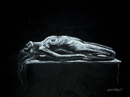 Sacrifice - 14 x 10 inches - Conte pencil on card