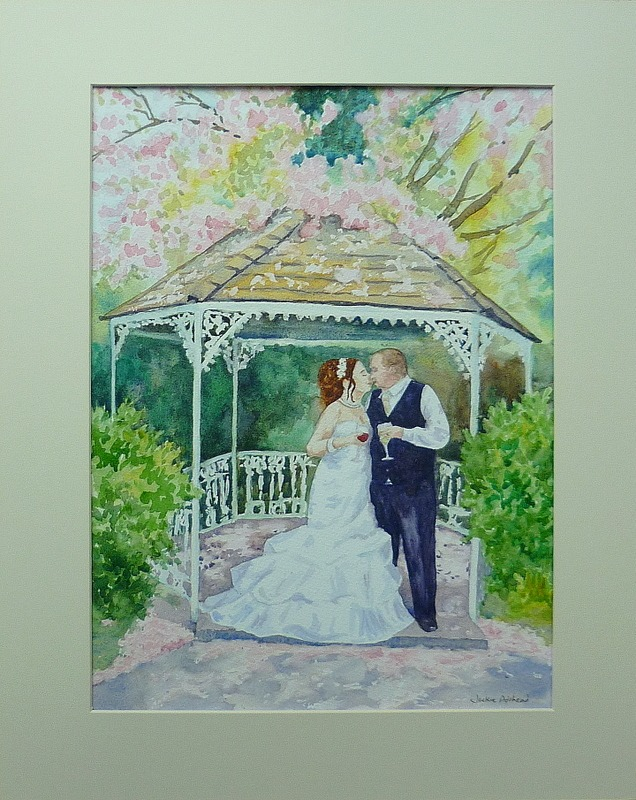 Cherry blossom gazebo kiss in easy stages