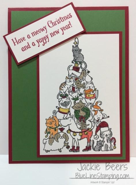 Stampin' Up! Santa Paws, stampinup santa paws, Jackie Beers, jackiebeers