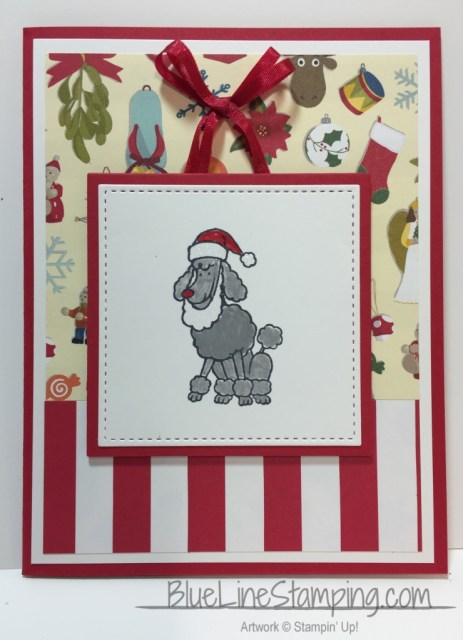 Stampin' Up! Santa Paws, stampinup santa paws, Jackie Beers, blue line stamping,