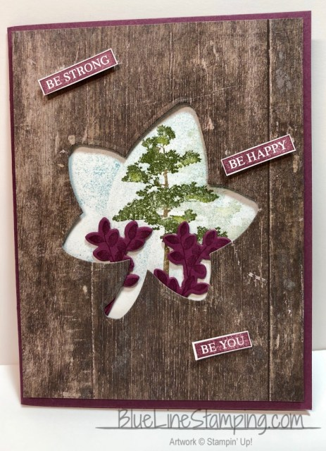 Stampin' Up, Rooted In Nature, Detailed Leaves, Jackie Beers