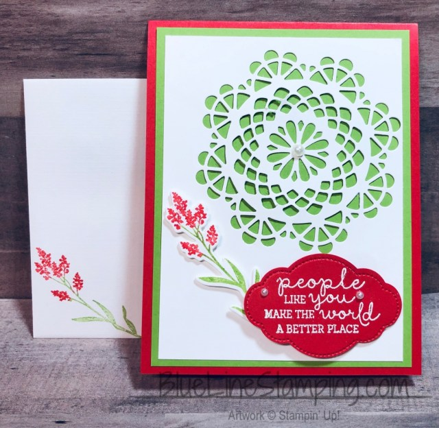 Stampin' Up!, Dear Doily, Needle & Thread, Humming Along, Pretty Label, Jackie Beers