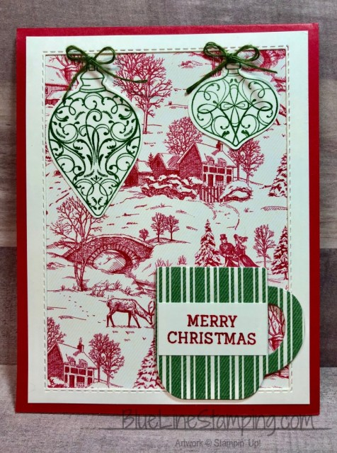 Stampin' Up!, Christmas Gleaming, Cup of Christmas, Toile Tidings, Jackie Beers