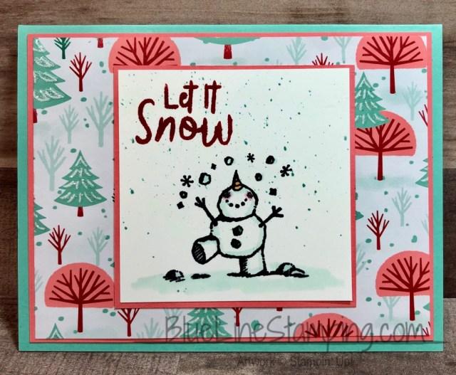 Stampin' Up!, Snowman Season, Let It Snow, Jackie Beers