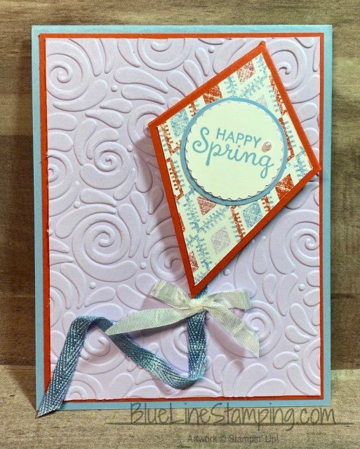 Stampin' Up!, Woven Threads, Fable Friends, Very Versailles, Swirls and Curls Folder, Jackie Beers