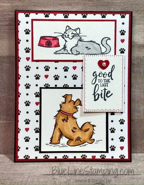 stampin' Up!, Pampered Pets, Ghoulish Goodies, Rectangle Postage, Jackie Beers