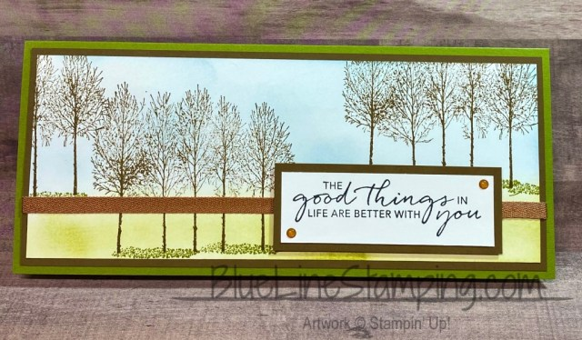 Stampin' Up!, Winter Woods, Tasteful Touches, Jackie Beers