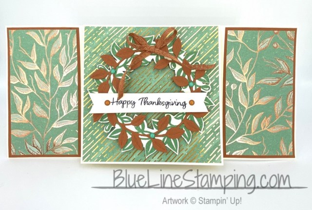 Stampin' Up!, Arrange A Wreath, Banner Year, Gilded Autumn, Jackie Beers