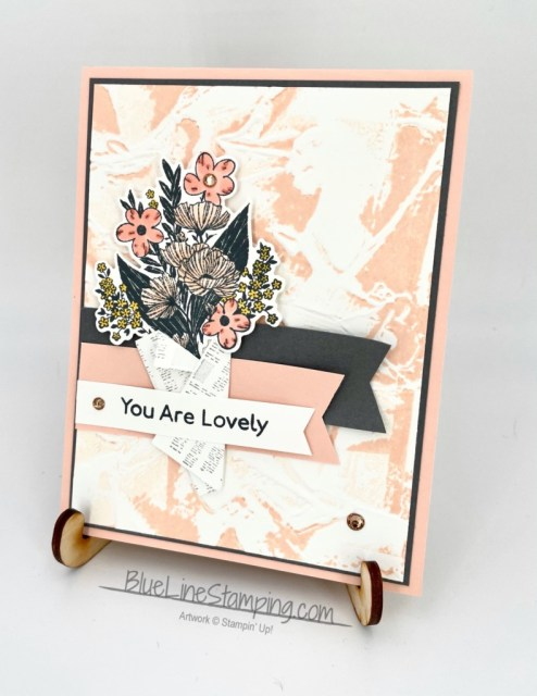 Stampin' Up!, Wrapped Bouquet, Art Gallery, Painted Texture, Jackie Beers