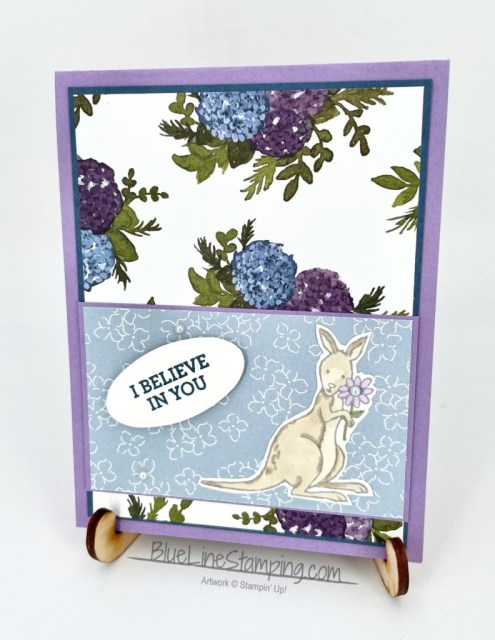 Stampin' Up!, Count On Me, Hydrangea Hill, Double Oval, Jackie Beers