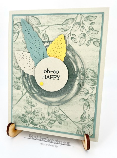 Stampin' Up!, Forever Fern, Painted Labels, Time Worn Type, Stitched Leaves, Jackie Beers